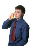 De telefoonregels van de banaan Stock Afbeelding