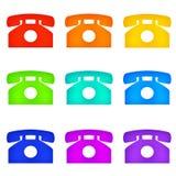 De telefoons van de kleur Royalty-vrije Stock Afbeeldingen