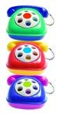 De Telefoons van het stuk speelgoed royalty-vrije stock fotografie