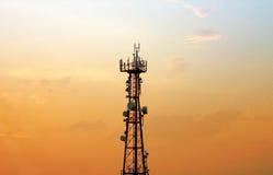 De telefoontoren van de cel - antenne Stock Foto