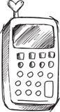 De Telefoonvector van de krabbelcel Stock Afbeelding