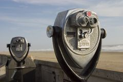 De Telescopen van de toerist stock foto's