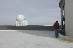 De telescopen van het Cerro Paranal Waarnemingscentrum Stock Afbeeldingen