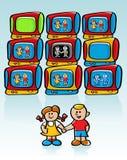 De Televisie van kinderen royalty-vrije illustratie