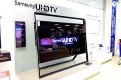 De televisie van Samsung UHDTV royalty-vrije stock foto's