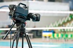 De televisiecamera van de sport Stock Foto's