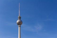 De televisietoren van Berlijn in Alexanderplatz Stock Afbeelding