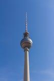 De televisietoren van Berlijn in Alexanderplatz Royalty-vrije Stock Foto