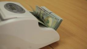 De Tellende Machine van het geld stock videobeelden