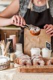 De Teller van de doughnutopslag Royalty-vrije Stock Foto's