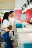 De teller van de familieluchtvaartlijn Royalty-vrije Stock Foto's