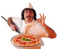 De teller van de pizza Stock Foto