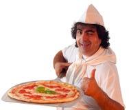 De teller van de pizza royalty-vrije stock afbeelding