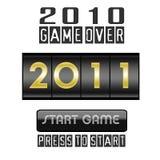 De teller van het nieuwjaar 2011 die op wit wordt geïsoleerda Royalty-vrije Stock Afbeeldingen