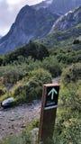 De teller van sectorcuernos langs de w-Trek sleep in Torres del Paine National Park, Patagonië Chili Stock Afbeeldingen