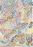 De tellerslijnen baseerden verwrongen digitaal remastered en gekleurd patroon Royalty-vrije Stock Fotografie