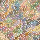 De tellerslijnen baseerden verwrongen digitaal remastered en gekleurd patroon Stock Foto