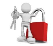 De telles grandes clés dans la poche ne s'adaptent pas. Image stock