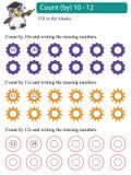 De telling van wiskundeveelvouden door 10 - 12 vector illustratie