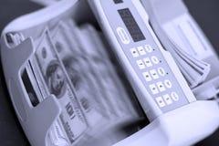 De tellingsmachine van het contante geld Stock Afbeelding