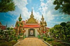 In de tempel Stock Foto