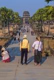 De tempel Angkor Wat Cambodia stock foto