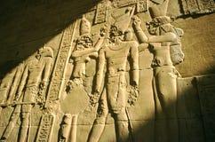De tempel bas-hulp van Luxor, Egypte stock afbeelding