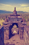 De tempel Borobudur van Buddist Yogyakarta Yogyakarta indonesië Stock Fotografie