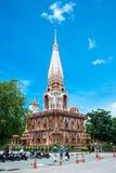 De tempel complex van Wat Chalong in Phuket, Thailand stock afbeelding