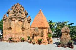 De tempel complexe Po Nagar, de toren van Ponagar Cham Nha Trang vietnam Stock Afbeeldingen