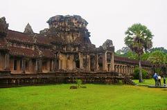 De tempel complexe Siem van Angkorwat oogst, Kambodja Grootste godsdienstig monument in wereld 162 6 hectaren royalty-vrije stock foto