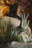 De Tempel Daibutsu van Japan Nara Todai -todai-ji starue Stock Afbeelding