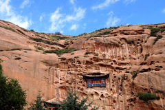 De tempel in de rots Stock Fotografie