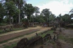 De tempel die van BANTEAY SREI, wijd als kostbare gem ` van `, of `-juweel van Khmer art. worden geprijst ` royalty-vrije stock afbeeldingen