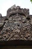 De tempel die van BANTEAY SREI, wijd als kostbare gem ` van `, of `-juweel van Khmer art. worden geprijst ` stock fotografie