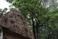 De tempel die van BANTEAY SREI, wijd als kostbare gem ` van `, of `-juweel van Khmer art. worden geprijst ` royalty-vrije stock fotografie