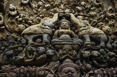 De tempel die van BANTEAY SREI, wijd als kostbare gem ` van `, of `-juweel van Khmer art. worden geprijst ` royalty-vrije stock foto's