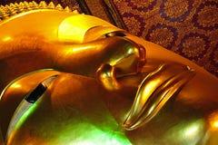 De Tempel die van Thailand Bangkok Wat Pho Boedha doet leunen Royalty-vrije Stock Afbeelding
