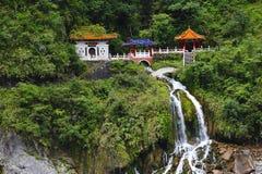 De Tempel en de Watervallen royalty-vrije stock afbeelding