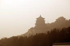 de tempel in het de zomerpaleis, Peking Stock Fotografie