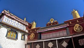 De tempel Jokhang Royalty-vrije Stock Afbeeldingen
