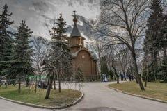 De tempel-kapel van het Opperste pictogram van de Moeder van God Stock Foto