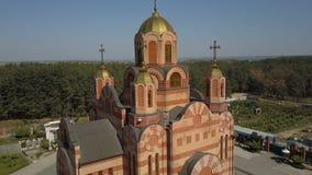 De tempel ter ere van het pictogram van de Moeder van God Iverskaya stock videobeelden