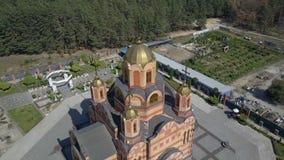De tempel ter ere van het pictogram van de Moeder van God Iverskaya stock footage