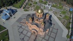De tempel ter ere van het pictogram van de Moeder van God Iverskaya stock video
