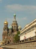 De tempel is tevredenstellend aan de Verlosser op gemorst bloed Heilige-Petersburg Rusland Stock Foto's