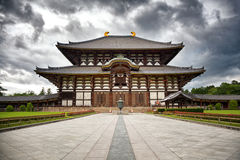 De Tempel todai-Ji van Nara Stock Afbeeldingen