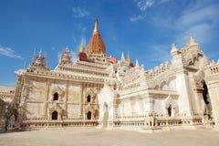 De tempel van Ananda in bagan, Myanmar Royalty-vrije Stock Fotografie