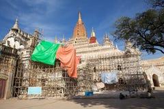 De tempel van Ananda in bagan, Myanmar Stock Fotografie