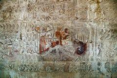 De tempel van Angkor Wat, Siem oogst, Kambodja stock foto
